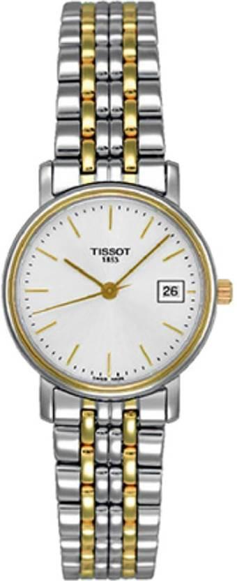 Tissot T52.2.281.31 T Classic Desire Small Lady White Dial Hybrid Watch - 73dd0b05ea4