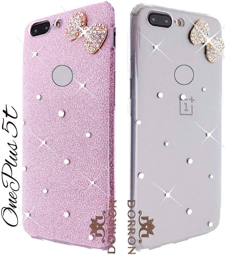 new arrival b2720 6f3f0 DORRON Back Cover for OnePlus 5T / 1+5T Stylish Bowknot Designer ...