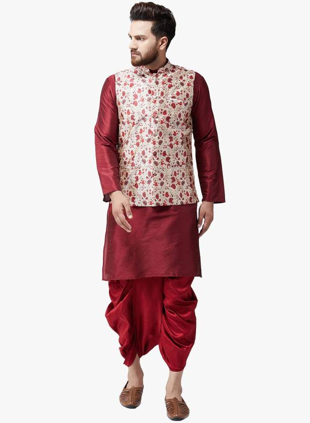 7ddaf7531 Sojanya Men Ethnic Jacket, Kurta and Dhoti Pant Set - Buy Sojanya Men  Ethnic Jacket, Kurta and Dhoti Pant Set Online at Best Prices in India |  Flipkart.com