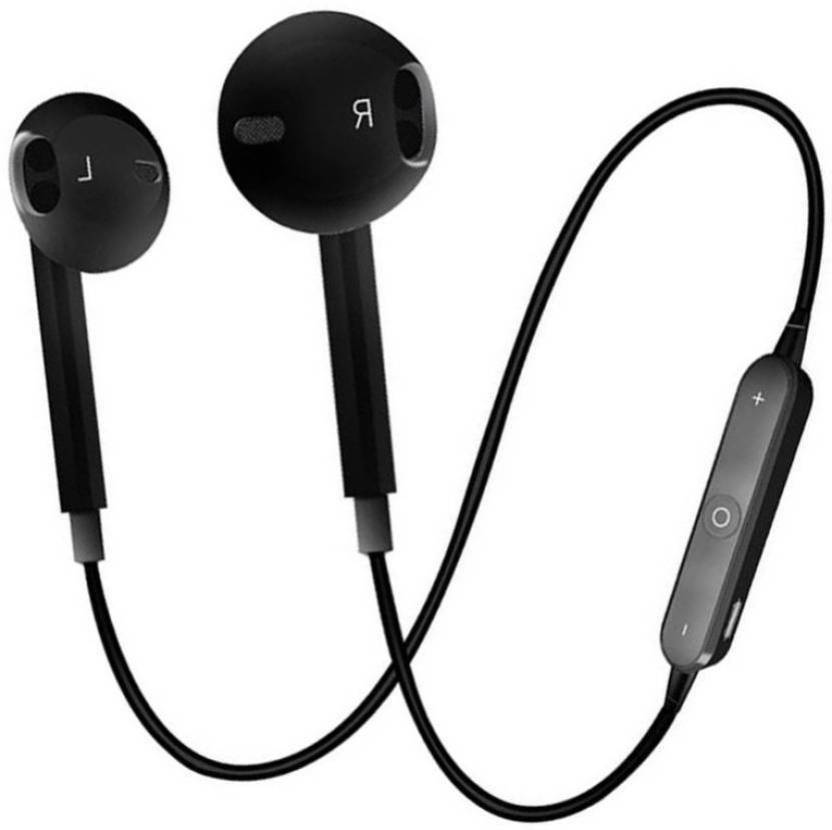 03862418f0c mobaccx s6 bluetooth headset black Bluetooth Headset with Mic (Black, In  the Ear)