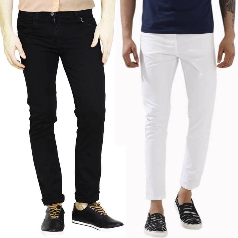 uk availability united states get online Masterly Weft Slim Men Black, White Jeans