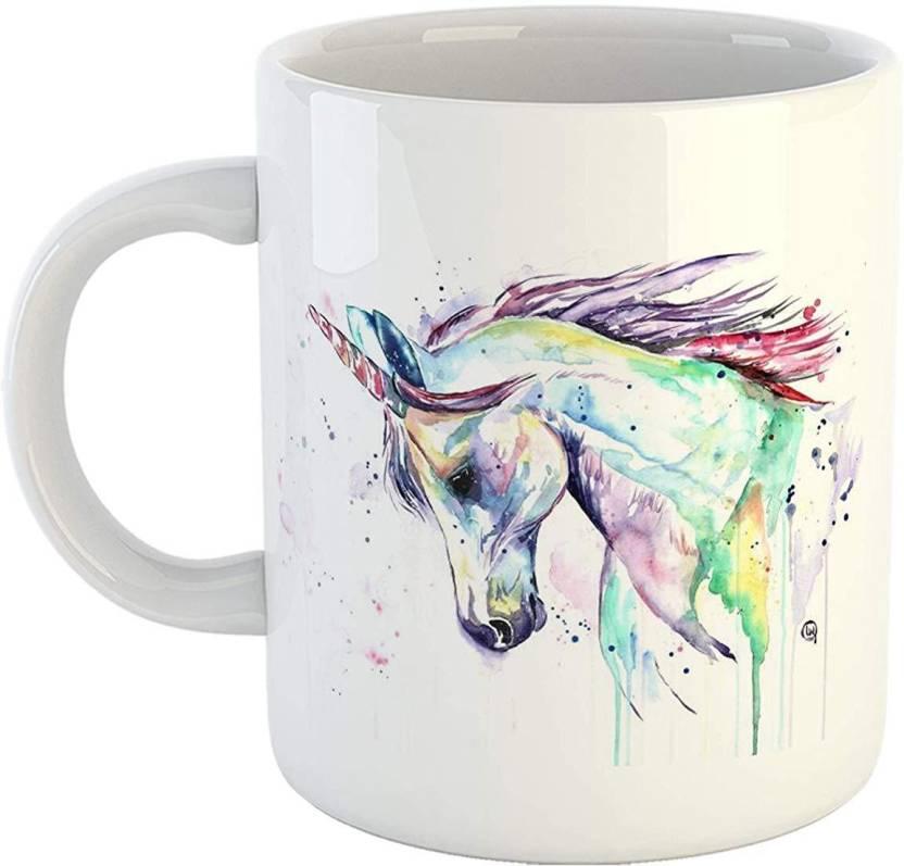 Ikraft Unicorn Tea Cup Quotes Printed Cute Baby Girl Coffeemug Gift