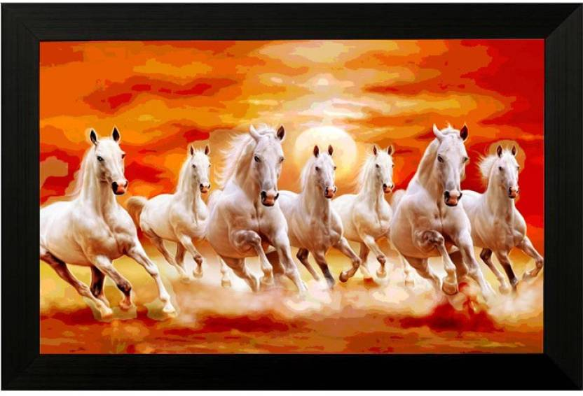 Pintura 7 Running Horses Ink 13 Inch X 19 Inch Painting Price In