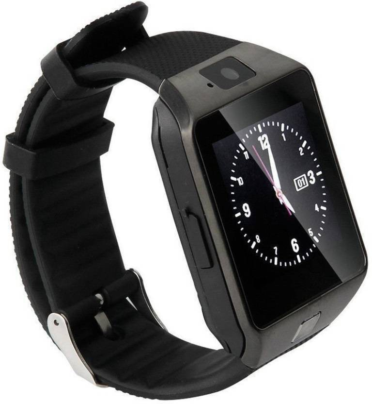 latest 4G Calling Smart Mobile watch Compatible With Android \u0026 Ios Smartwatch (Black Strap Free Size)