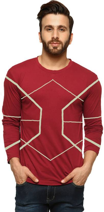 ccebf9cb00 Tripr Printed Men Round Neck Red T-Shirt - Buy Tripr Printed Men ...