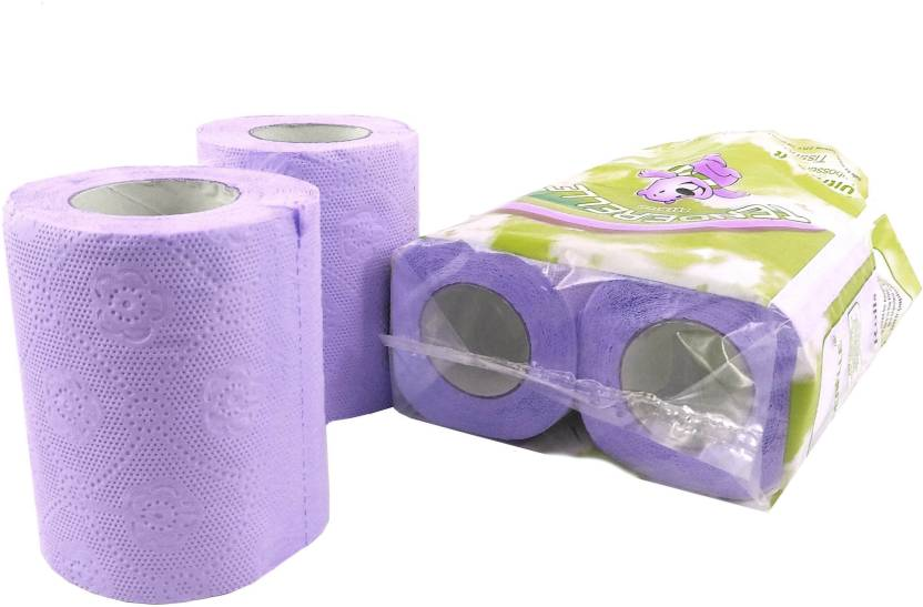 Royal Indian Craft Pack Of 4 Super Soft 2 Ply Blue Color Toilet