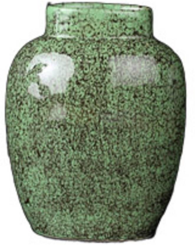 Caffeine Caffeine Ceramic/ Stoneware Glazed Flower Vase in Crackle