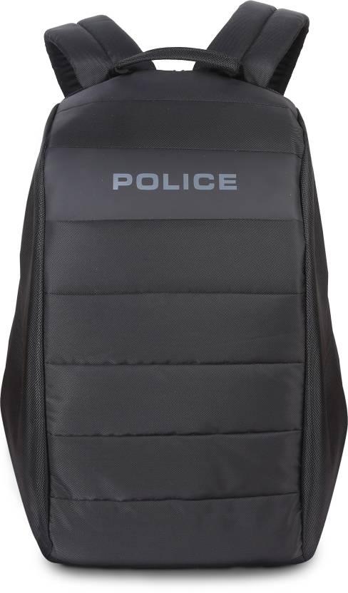 3c7599c34f3c Police Bore Anti theft 25 L Laptop Backpack Black - Price in India ...
