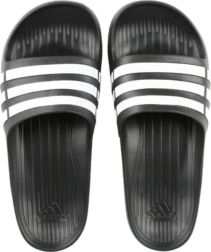 factory authentic db5e3 56630 ADIDAS DURAMO SLIDE Slippers - Buy CBLACKFTWWHTCBLACK Color ADIDAS DURAMO  SLIDE Slippers Online at Best Price - Shop Online for Footwears in India ...