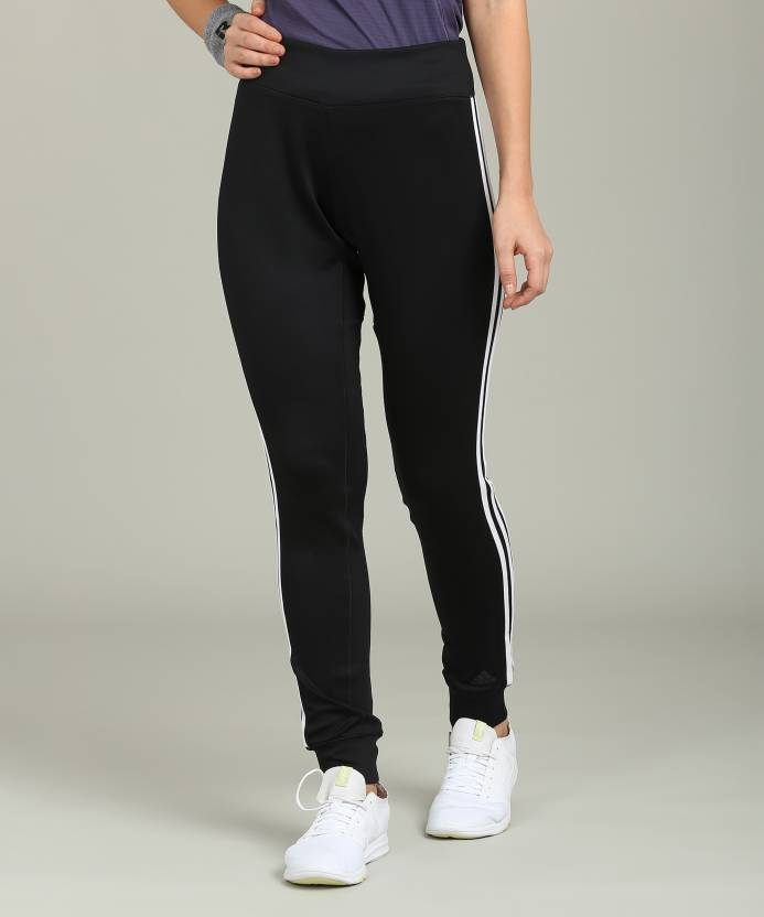 fad46467cee ADIDAS Solid Women's Black Track Pants - Buy black ADIDAS Solid Women's  Black Track Pants Online at Best Prices in India | Flipkart.com