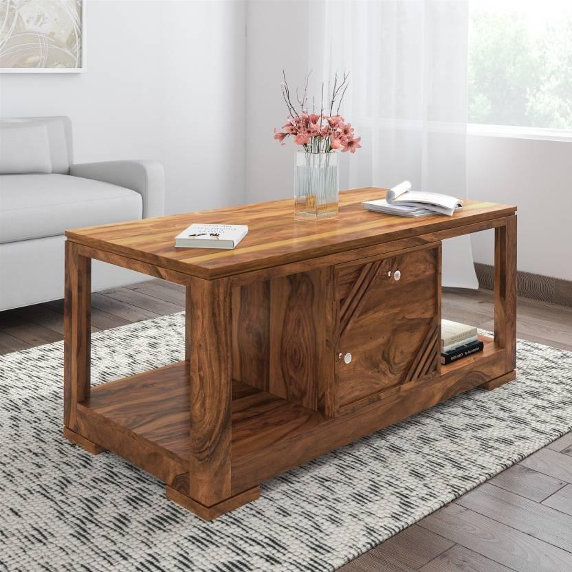 Timbertaste Alfa Sheesham Solid Wood Coffee Table Price In India