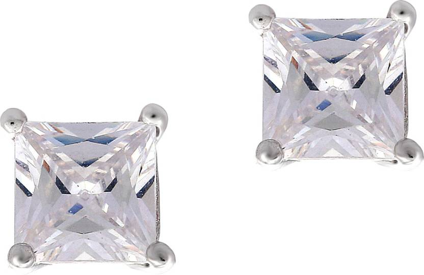52dad3c27 Flipkart.com - Buy MANJARI JEWELS Silver single Stone Earrings/Tops Cubic  Zirconia Silver Stud Earring Online at Best Prices in India