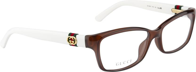 fe4d31e62aa GUCCI Full Rim Cat-eyed Frame Price in India - Buy GUCCI Full Rim ...