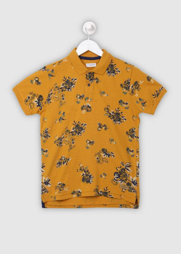 9f7a02d25b21 US Polo Kids Boys Floral Print Cotton T Shirt Price in India - Buy ...