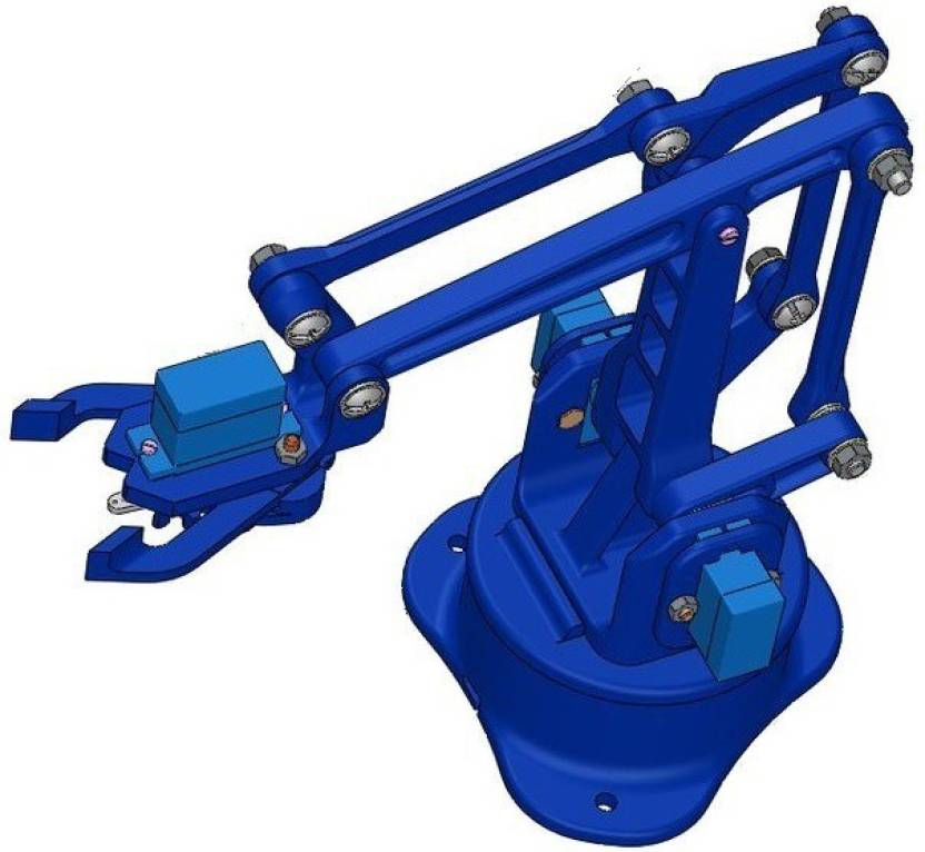 Ayasa Robotic Arm With Gripper Diy Kit, All Nuts & Bolts Included, Servos  Not Included