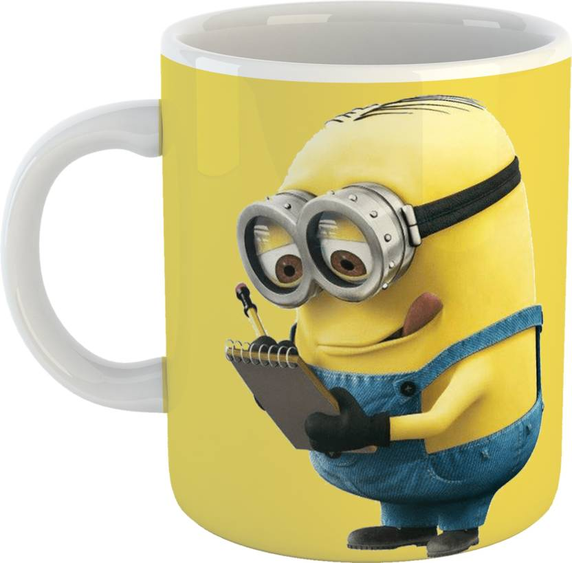 Making Mug for Teebuddy Finish Ceramic350 sisterBrotherFriends Minion Print Vibrant Kids Cartoon Coffee Notes Glossy MlMug wPn0Ok
