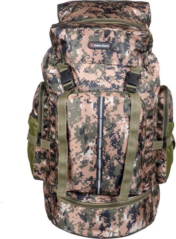 33334191b2 Indian Riders Hiking Lightweight 50L Backpack Rucksack Bag - Camo Printed  Bag 22