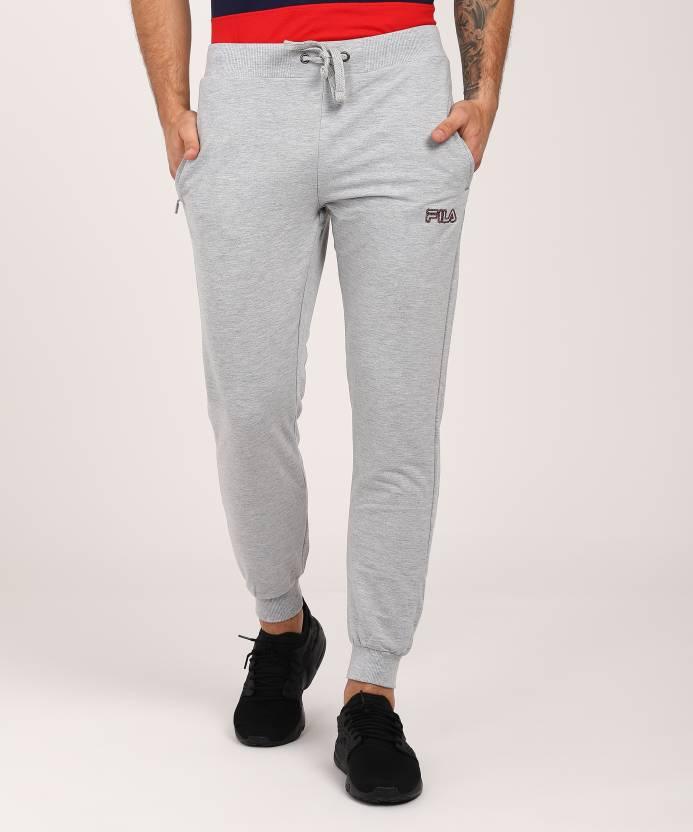 5402137dbc696a Fila Solid Men Grey Track Pants - Buy Fila Solid Men Grey Track Pants  Online at Best Prices in India