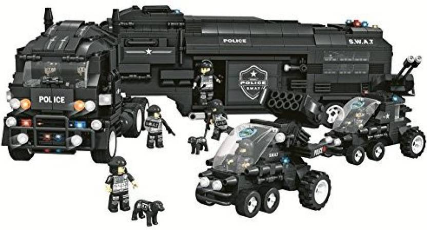 Genrc Police Swat City Mobile Command Centre Truck Patrol