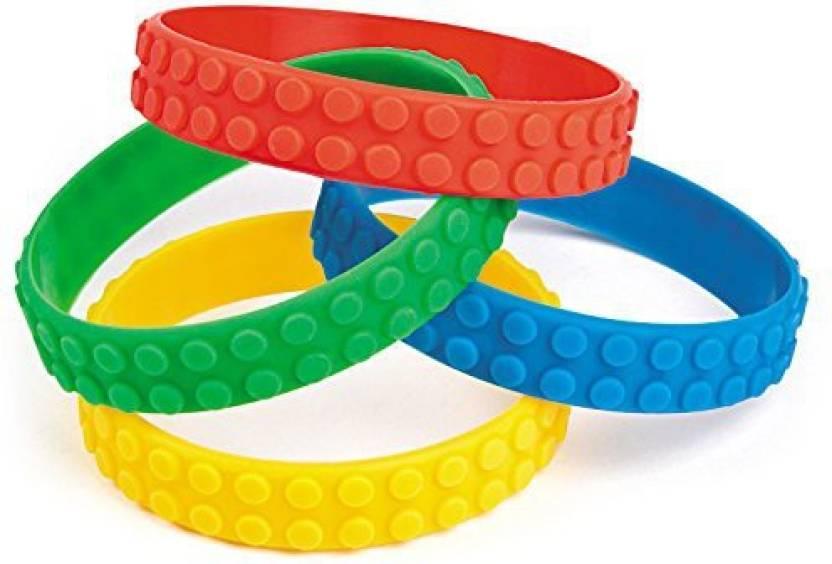 Genrc Color Brick Building Block Party Favor Bracelets 12 Ct