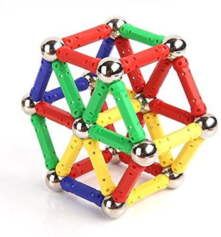 60Pcs Baby Kids Intelligence Educational Magnetic Building Toy Set magnet sticks