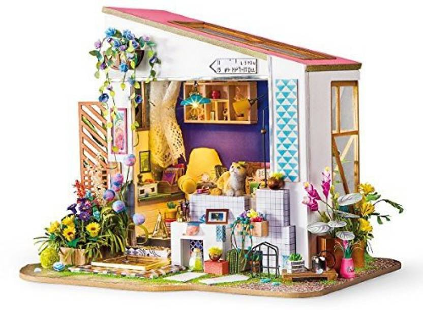 Genrc Rolife Dollhouse Diy Miniature Room Set Wood Craft
