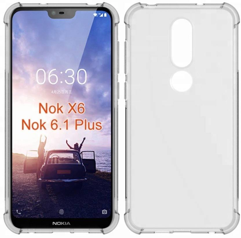 check out 481ce d33c3 Flipkart SmartBuy Back Cover for Nokia 6.1 Plus (RUBBER,SILICON)