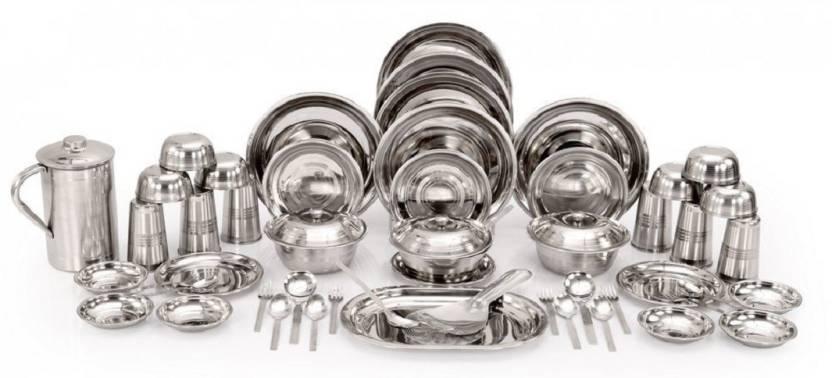 Royal Eliba Stainless Steel 51 Piece Dinner Set Kitchen Set Silver