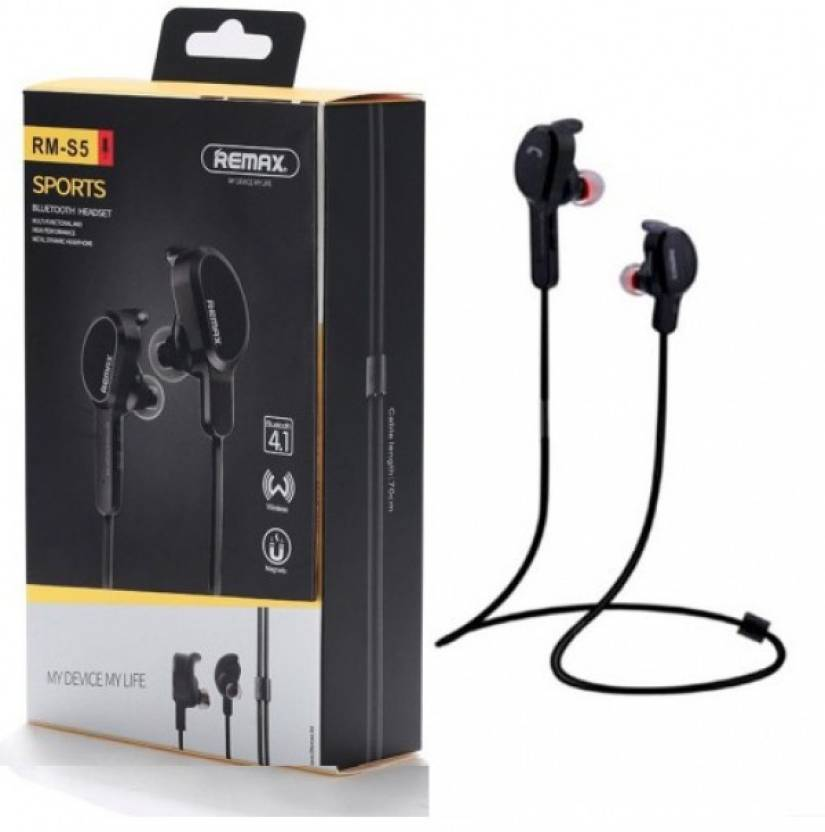 Remax RB-S5 MAGNETIC BLUETOOTH EARPHONE BLACK Bluetooth Headset with