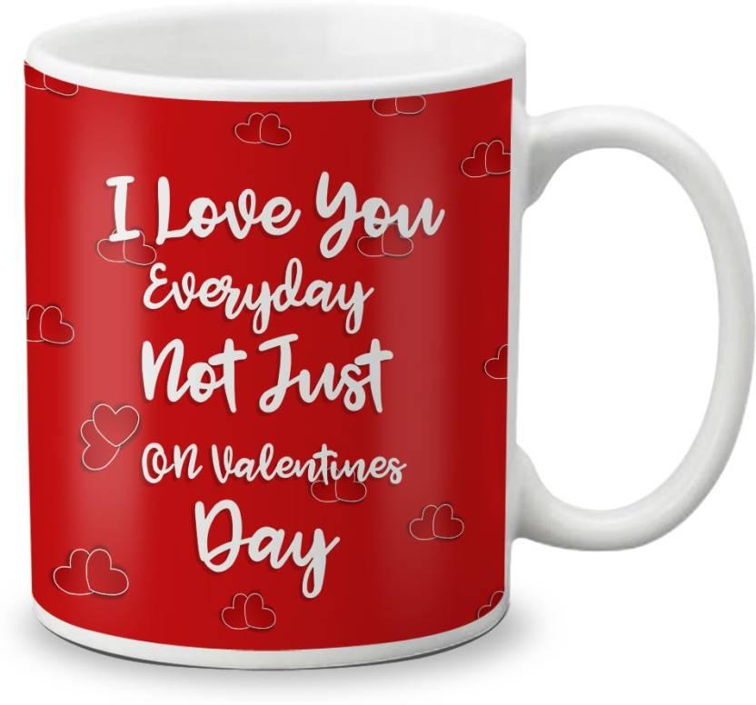 LOF Birthday And Anniversary Gift For Husband Wife Beautiful Love Message Gift056 Ceramic Mug 320 Ml