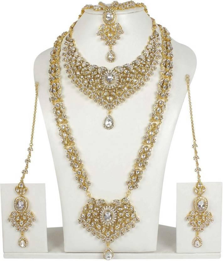 Muchmore Indian Ethnic Gorgeous Design Kundan Made Bridal Necklace