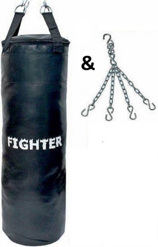 Fighter Synthetic Leather Punching Bag With Chain Hanging