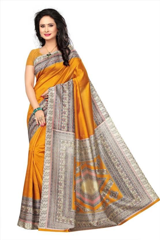 51542c9e08 Buy Saree Exotica Woven Mysore Art Silk Mustard Sarees Online @ Best ...