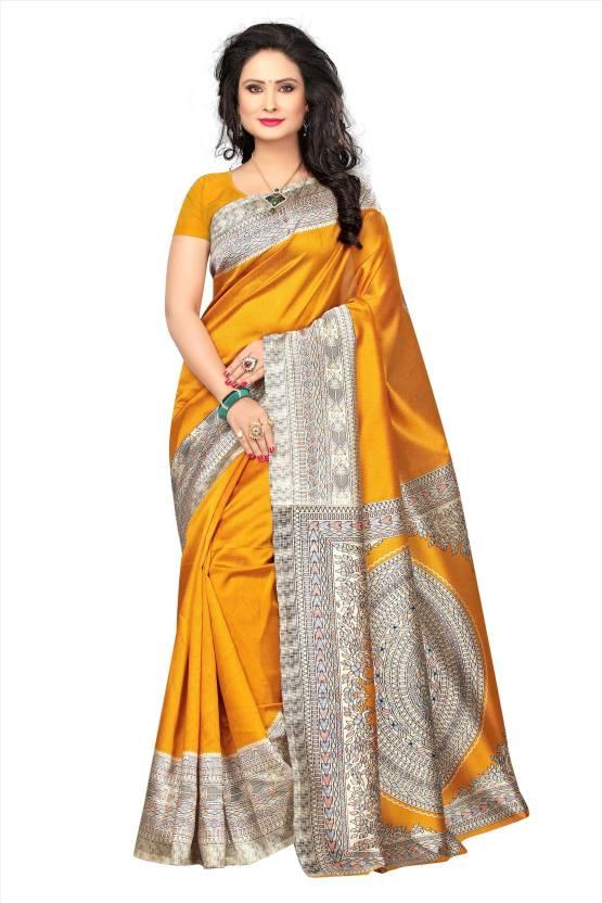 e22d72f7db Buy Saree Exotica Woven Kalamkari Art Silk Mustard Sarees Online ...