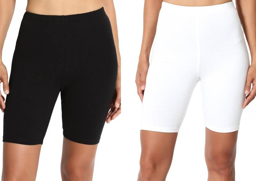 3431dc2a0 Lili Solid Women's Black, White Running Shorts - Buy Lili Solid ...