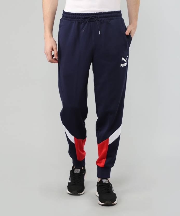 e22a711aff42 Puma Colorblock Men Blue Track Pants - Buy Puma Colorblock Men Blue Track  Pants Online at Best Prices in India