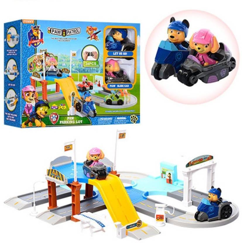 HALO NATION Paw Patrol Parking Lot - Track Toy - with Super