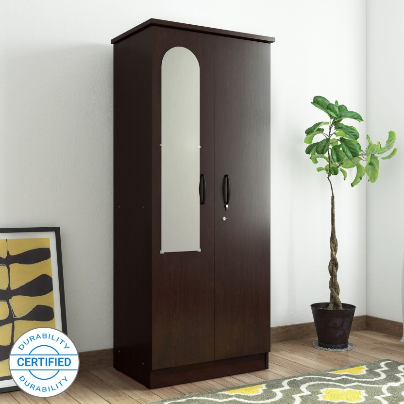Valtos Engineered Wood 2 Door Wardrobe
