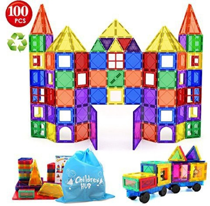 100 Piece Magnetic Tiles magnetic Building Blocks Toys for Kids