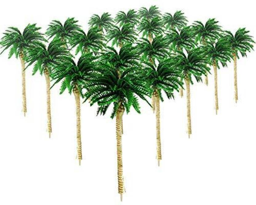 Genrc Hatisan 20Pcs Coconut Palm Model Trees/Scenery Model