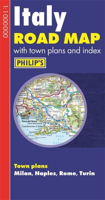 Road Map Of Italy In English.Philip S Italy Road Map Buy Philip S Italy Road Map By Philip S