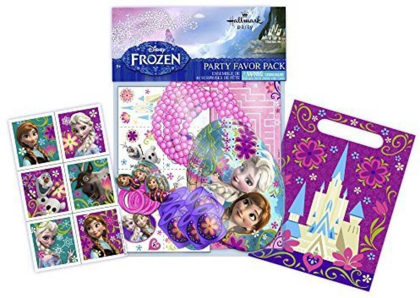 Blue Orchards Frozen Party Favor Kit 60 Pieces For 8 Guests Disney Supplies Favors Girls Birthday