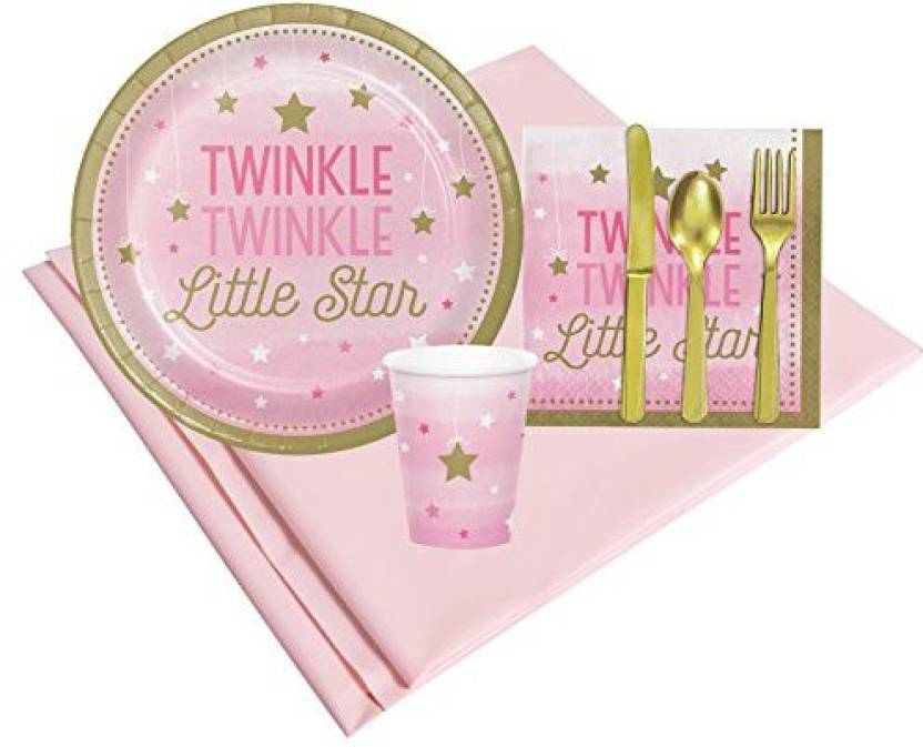 Birthday Express Twinkle Little Star Pink Childrens Party Supplies