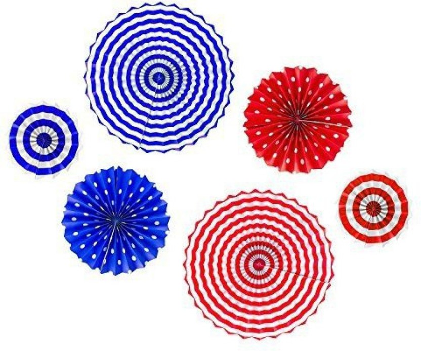 3 Wood /& Paper USA Patriotic 4th of July Stars Stripes Fans Party Favor RED BLUE