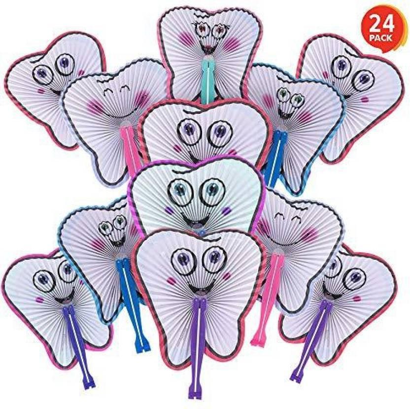 54069f77ee3 ArtCreativity 10  Handheld Folding Fans for Kids (Set of 24)