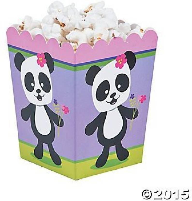 Fun Express Panda Party Popcorn Boxes - 24 pc - Panda Party