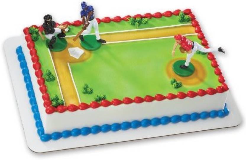 DecoPac Baseball Batter Up DecoSet Cake Decoration