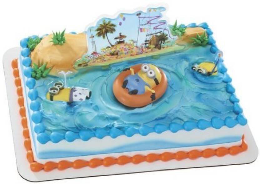 DecoPac Despicable Me Beach Party DecoSet Cake Decoration