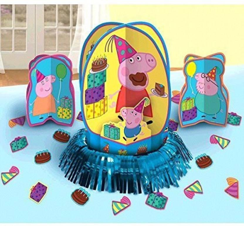 Peppa Pig Party Table Decorations Kit Centerpiece Kit 23 Pcs