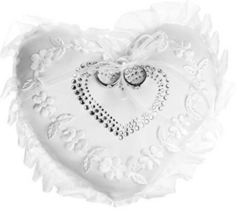 Beautyflier Kloud City 7 Wedding Ring Cushion Heart Embroidery